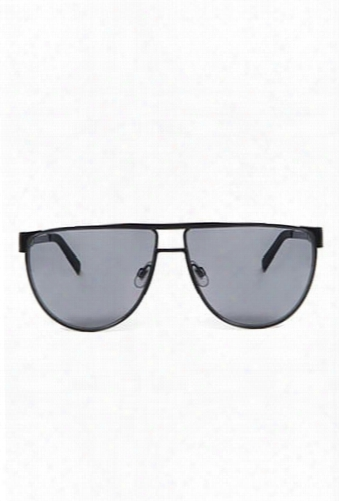 Men Flat-top Aviator Sunglasses
