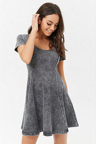Oil Wash Skater Dress