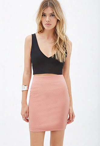 Textured Dot Pattern Skirt