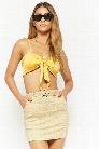 Belted Gingham Skirt