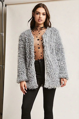 Angie Faux Fur Open-front Jacket