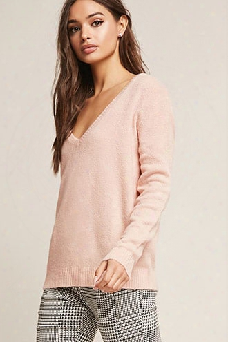 Asymmetrical V-neck Sweater