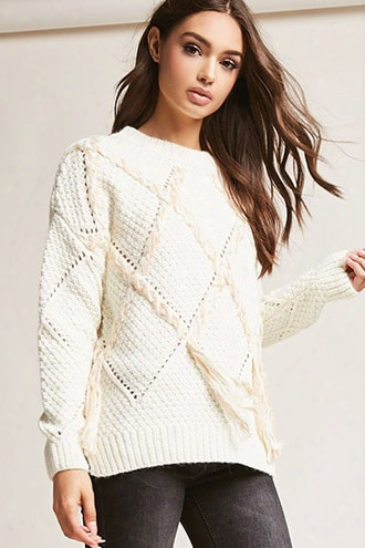 Braided Open-knit Sweater