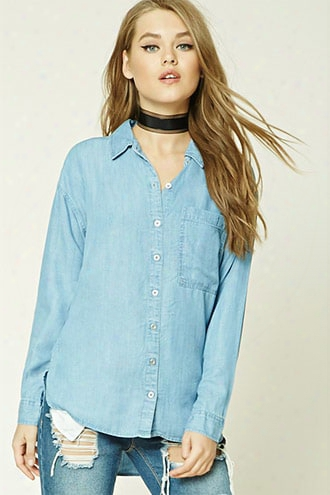 Chambray High-low Shirt