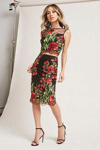 Floral Crop Top & Skirt Set