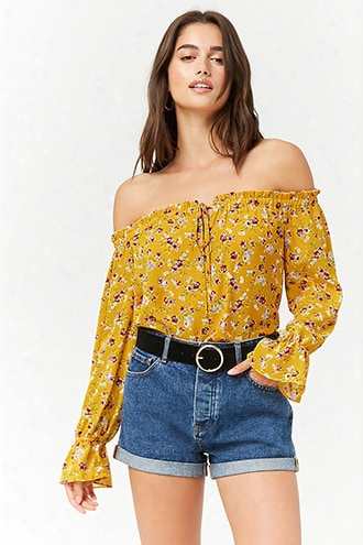 Floral Off-the-shoulder Peasant Top