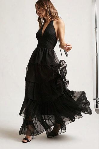 Halter Swiss-dot Gown