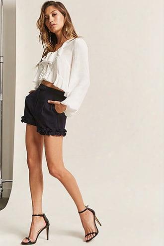 High-rise Ruffle Shorts