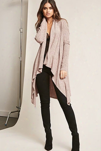 Marled Shawl Collar Cardigan