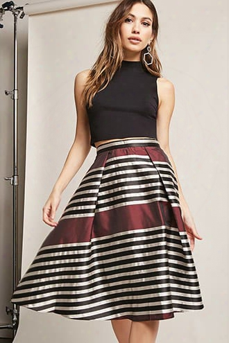 Multistripe Metallic Skirt