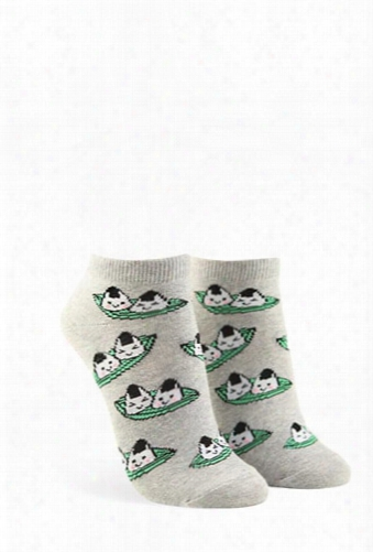 Onigiri Graphic Ankle Socks