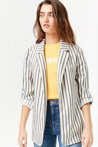 Open-front Striped Blazer
