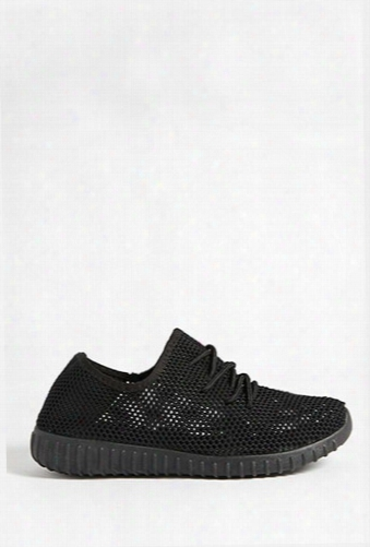 Qupid Knit Low-top Tennis Shoes