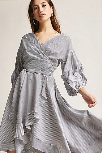 Ruffle Wrap Shirt Dress