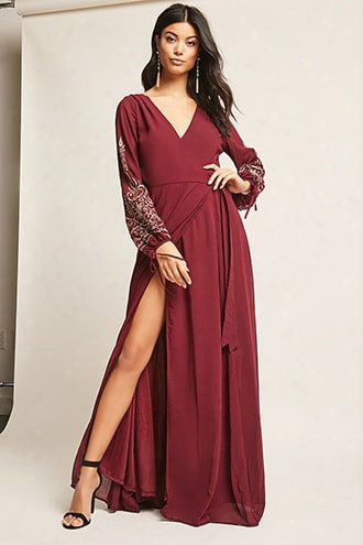 Soieblu Embroidered Wrap Dress