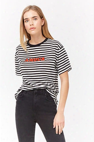 Striped Amour Graphicc Tee