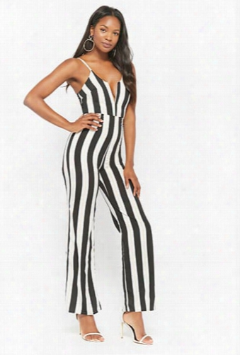Striped V-wire Jumpsuit