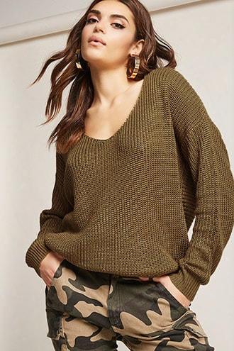 Twist-back Sweater