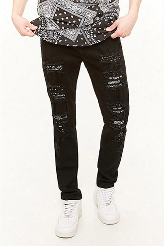 Victorious Bandana Patch Distressed Jeans