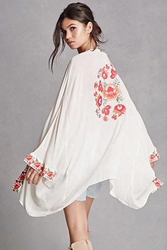 Z&l Europe Floral Kimono