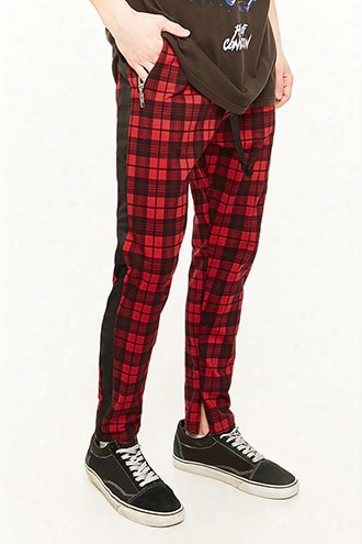 American Stitch Plaid Track Pants