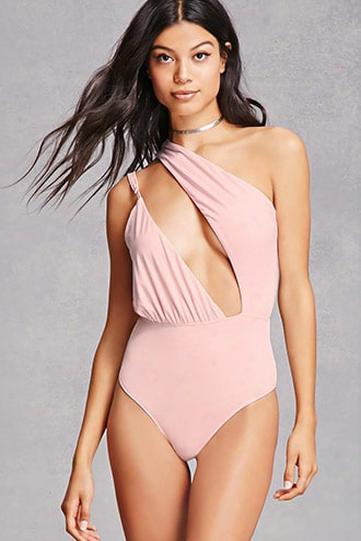 Asymmetrical Cutout Bodysuit