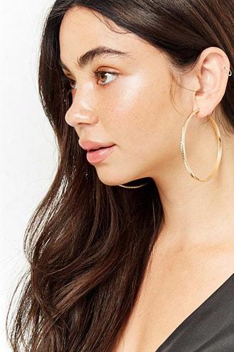 Chevron Hoop Earrings