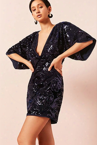 Contemporary Velvet Sequin Dress