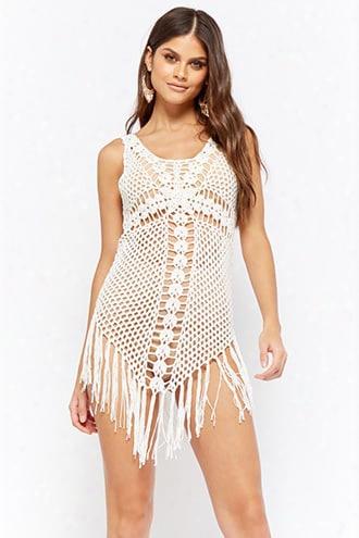 Crochet Fringe-trim Dress