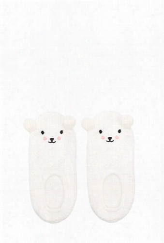 Fuzzy Knit Polar Bear Socks