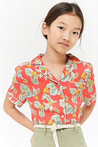Girls Floral Print Shirt (kids)
