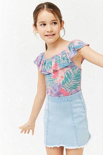 Girls Tropical Ruffle Bodysuit (kids)