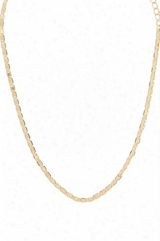 Hammered Chain Link Necklace