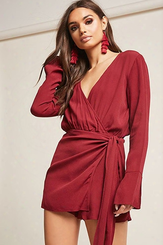 Open-back Crepe Romper