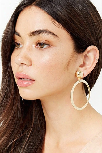 Plated Oval Drop Earrings