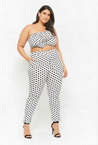Plus Size Eta Polka Dot Pants