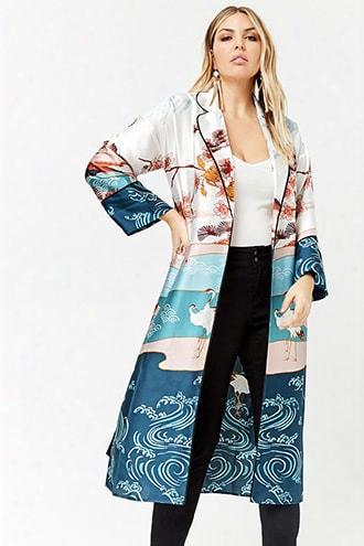 Plus Size River Longline Kimono
