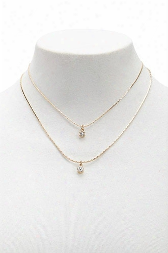Rhinestone Drop Necklace Set