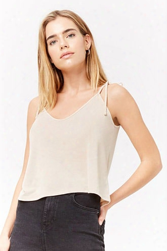 Self-tie V-neck Cami