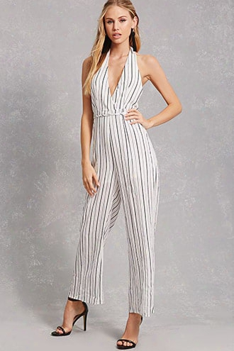 Selfie Leslie Striped Jumpsuit