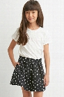 Girls Pleated Triangle Print Skirt (Kids)