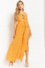 High-Neck M-Slit Maxi Dress