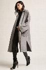 Wool-Blend Open-Front Coat
