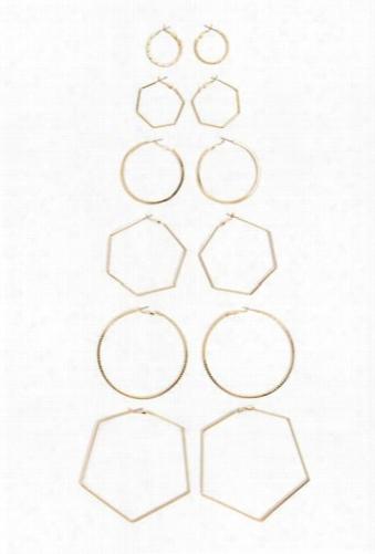 Variegated Hoop Earring Set