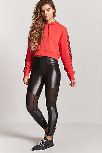Active Mesh-panel Coated Leggings