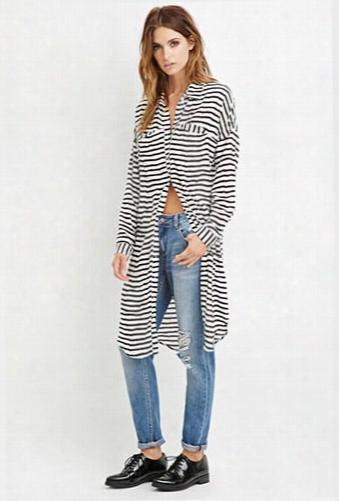Contemporary Stripe Shirt Dress