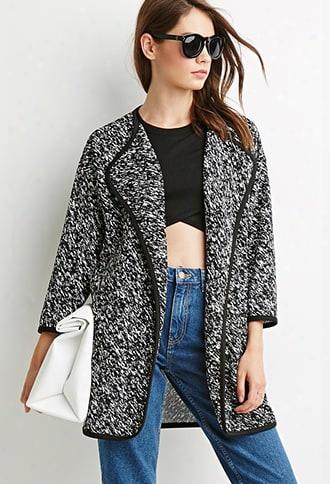 Crinkled Abstract Splatter Jacket