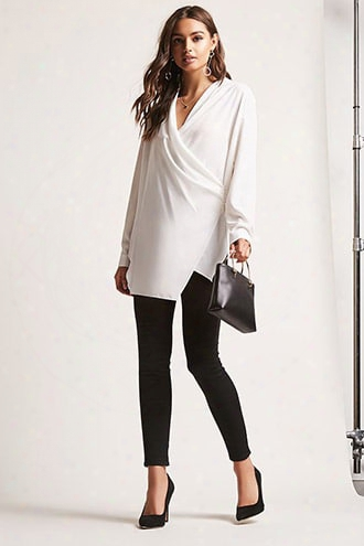 Draped Wrap-front Top