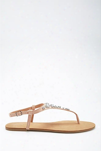 Faux Gem Thong Sandals