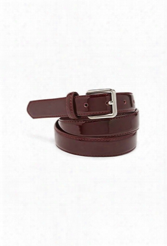 Faux Patent Leather Waist Belt